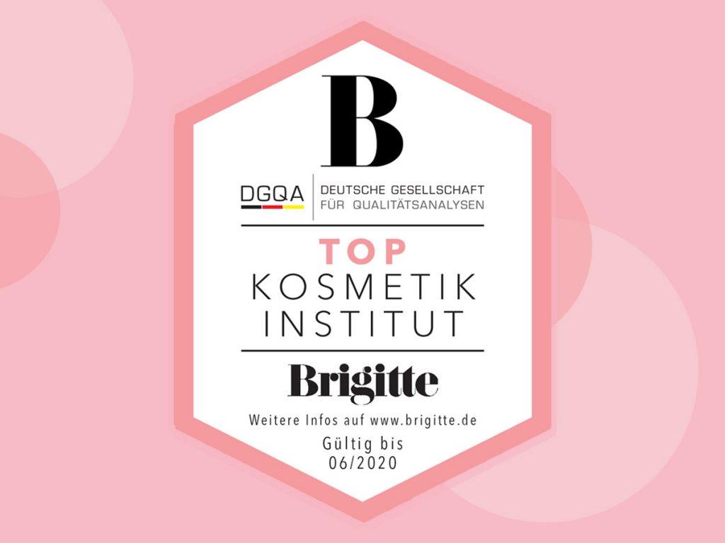 Auszeichnung Top Kosmetikinstitut Brigitte