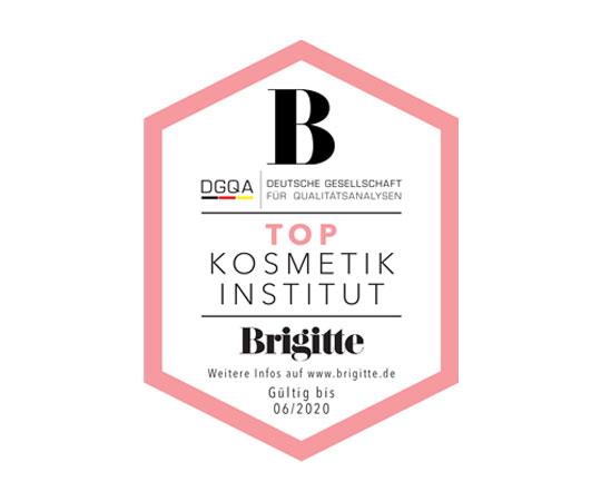 Top Kosmetik Institut Auszeichnung Brigitte